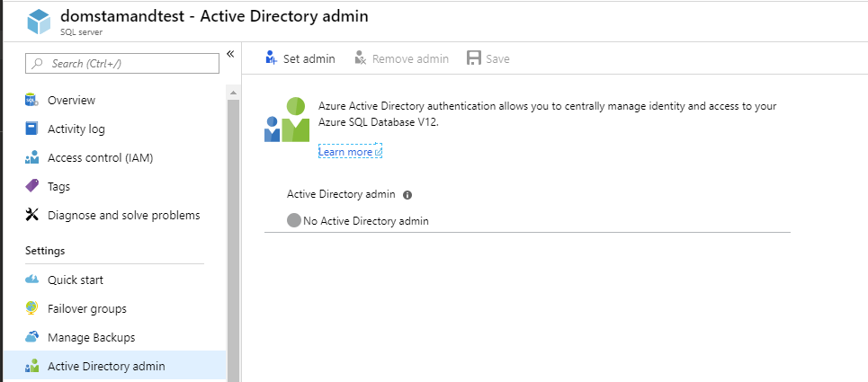 Using managed identities with SQL Azure Database in ASP NET